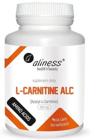 Aliness Acetyl L-Karnityny (ALC) 500 mg 100 kapsułek vege