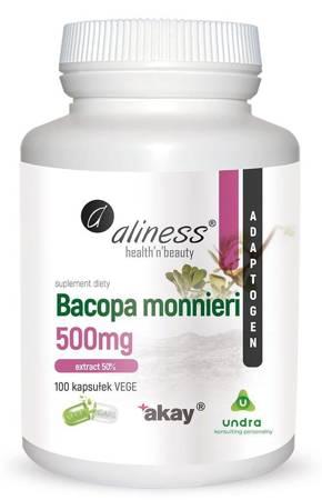 Aliness Bakopa Drobnolistna (Bacopa Monniera) 500 mg Extract 100 kapsułek vege