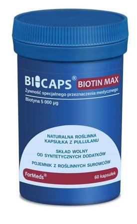 ForMeds BiCaps Biotin MAX 5000 mcg 60 kapsułek
