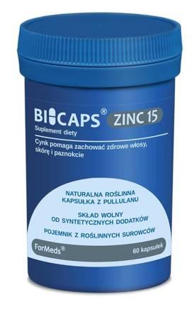 ForMeds BiCaps Cynk 15 mg 60 kapsułek