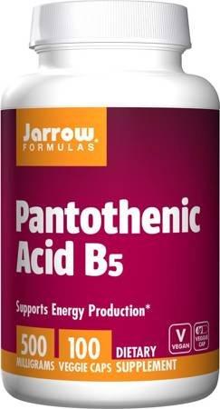 Jarrow Witamina B5 (Kwas pantotenowy) 500 mg 100 kapsułek