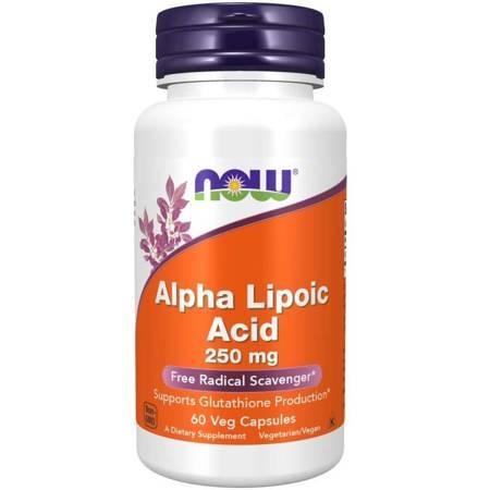 Now Foods ALA Kwas Alfa Liponowy 250 mg 60 kapsułek