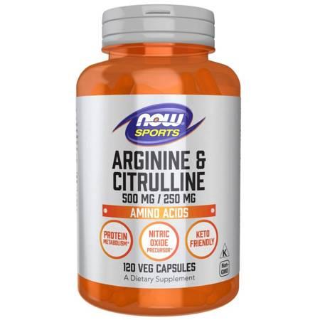 Now Foods Arginina i Cytrulina 120 veg kapsułek