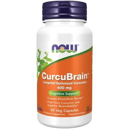 Now Foods CurcuBrain 400 mg 50 kapsułek