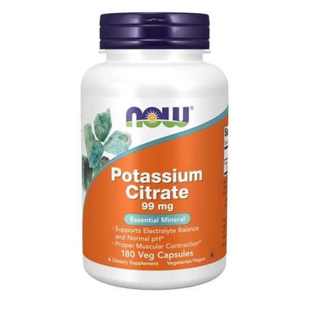 Now Foods Cytrynian Potasu 99 mg 180 kapsułek