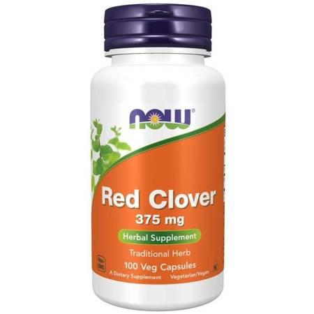 Now Foods Czerwona Koniczyna (Red Clover) 375 mg 100 kapsułek