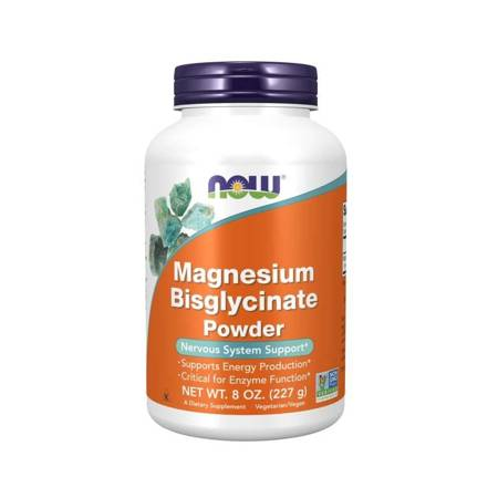 Now Foods Diglicynian Magnezu Puder 227 g