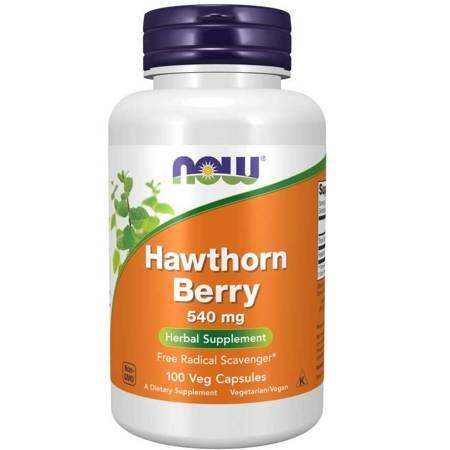 Now Foods Głóg (Hawthorn) 540 mg 100 kapsułek