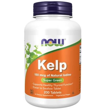 Now Foods Kelp (Jod) 200 tabletek