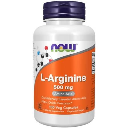 Now Foods L-Arginina 500 mg 100 kapsułek
