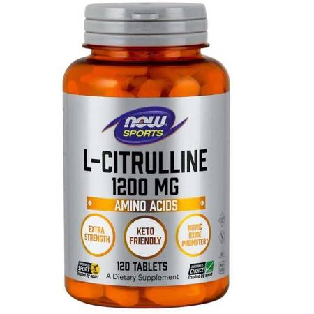 Now Foods L-Cytrulina Double Strength 1200 mg 120 tabletek
