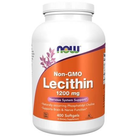Now Foods Lecytyna bez GMO 1200 mg 400 kapsułek