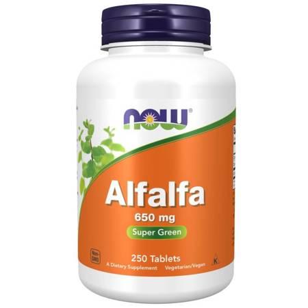Now Foods Lucerna (Alfalfa) 650 mg 250 tabletek