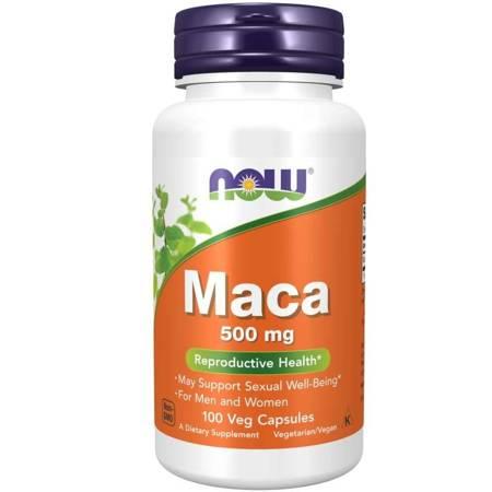 Now Foods Maca 500 mg 100 kapsułek