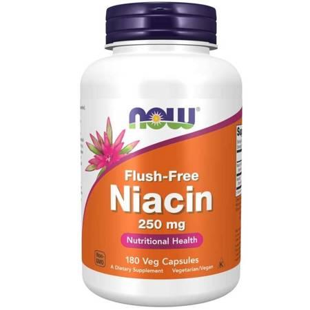 Now Foods Niacyna 250 mg Flush Free 180 veg kapsułek