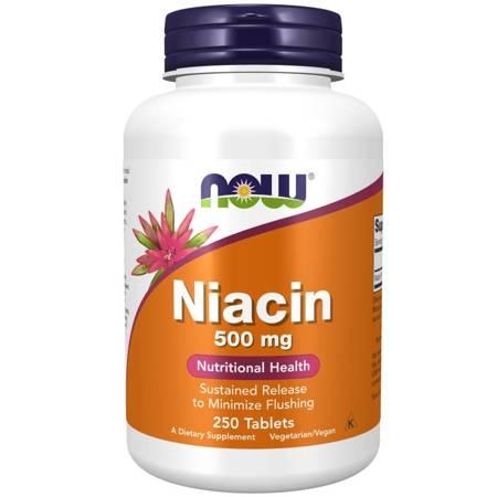 Now Foods Niacyna 500 mg 250 tabletek