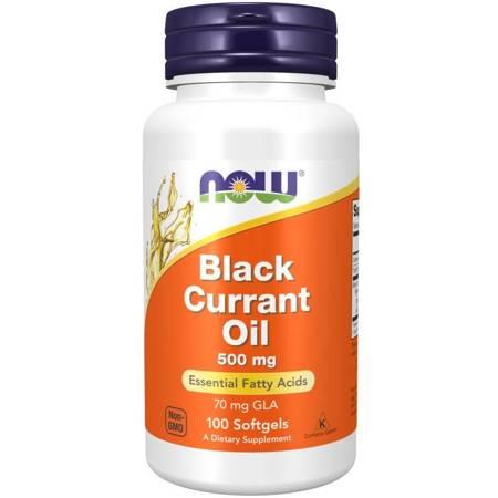 Now Foods Olej z Czarnej Porzeczki (Black Currant Oil) 500 mg 100 kapsułek