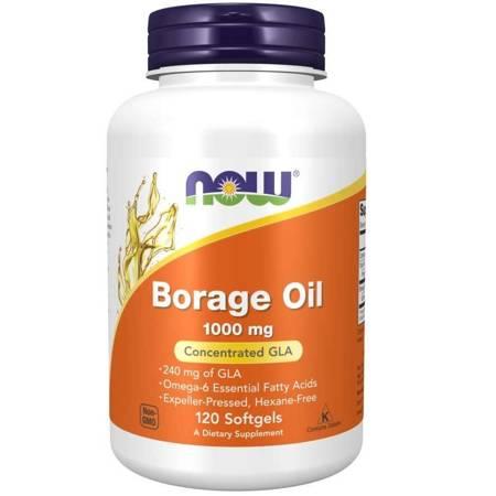 Now Foods Olej z Ogórecznika (Borage Oil) 1000 mg 120 żelków kapsułek