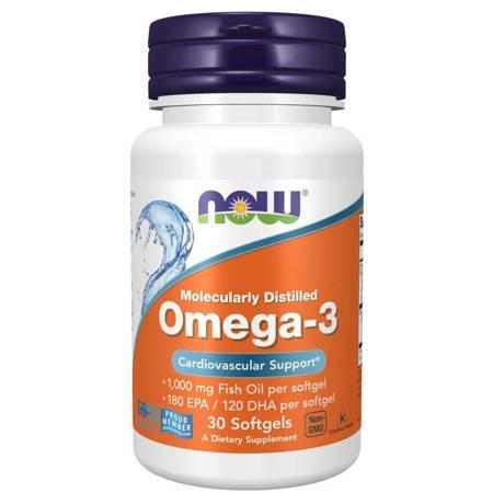 Now Foods Omega-3 30 kapsułek