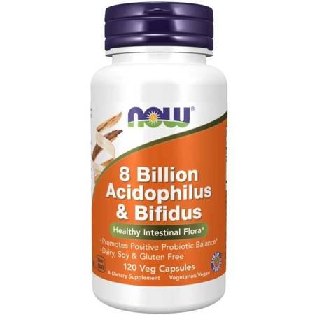 Now Foods Probiotyk Acidophilus i Bifidus 8 miliardów 120 kapsułek
