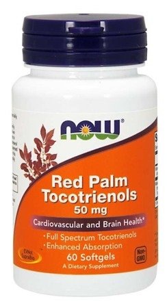 Now Foods Red Palm Tokotrienole 50 mg 60 kapsułek