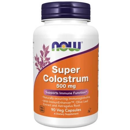 Now Foods Super Colostrum 500 mg 90 kapsułek