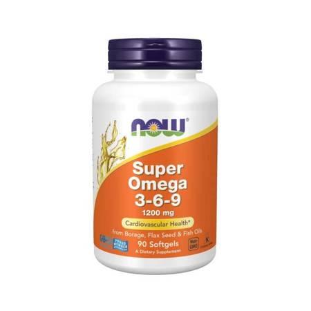 Now Foods Super Omega 3-6-9 1200 mg 90 kapsułek