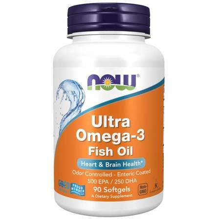 Now Foods Ultra Omega-3 500 EPA / 250 DHA 180 kapsułek