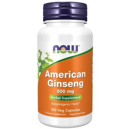 Now Foods Żeń-szeń Amerykański (American Ginseng) 500 mg 100 kapsułek