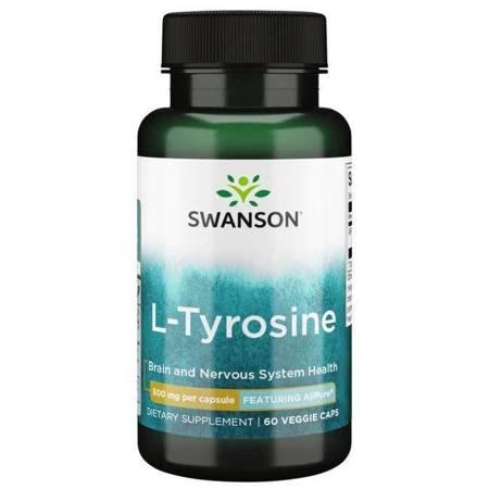 Swanson AjiPure L-Tyrozyna 500 mg 60 kapsułek