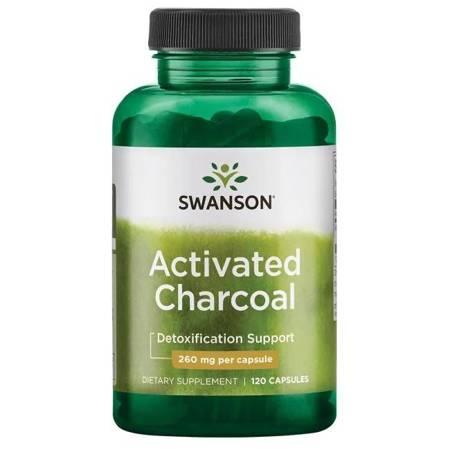 Swanson Aktywny Węgiel Drzewny 260 mg 120 kapsułek