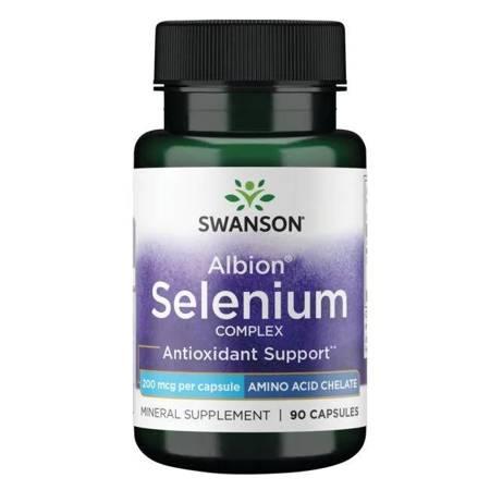 Swanson Albion Complexed Selenium 200 mcg 90 kapsułek