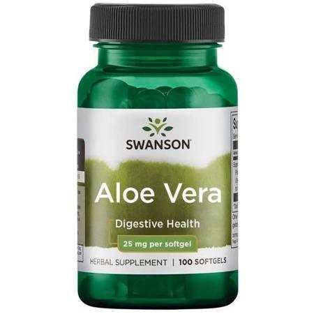 Swanson Aloes (Aloe Vera) 25 mg 100 kapsułek