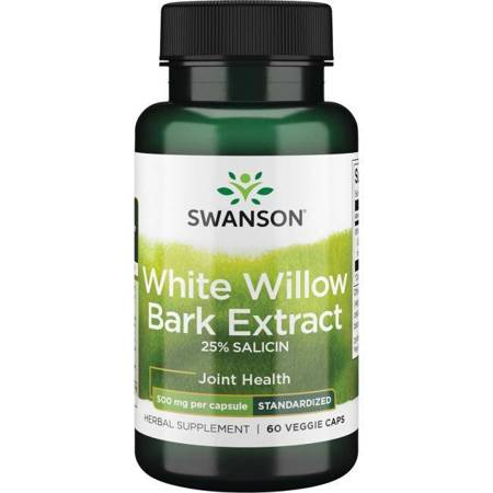 Swanson Biała Wierzba (White Willow) Extract 500 mg 60 kapsułek