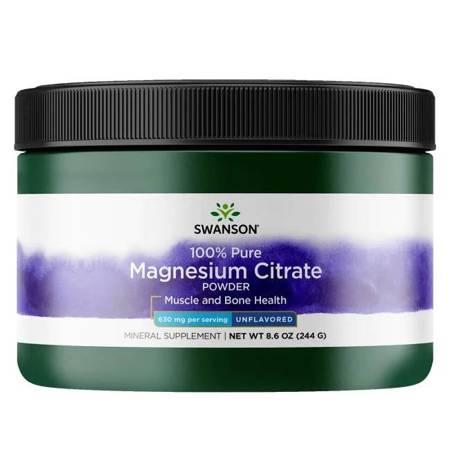 Swanson Cytrynian Magnezu 100% Puder 244 g