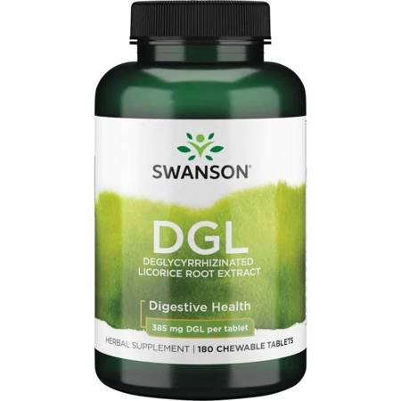 Swanson DGL (Deglicyryzowana Lukrecja) Extract 385 mg 180 tabletek do ssania