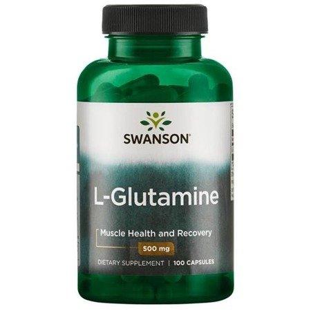 Swanson L-Glutamina 500 mg 100 kapsułek