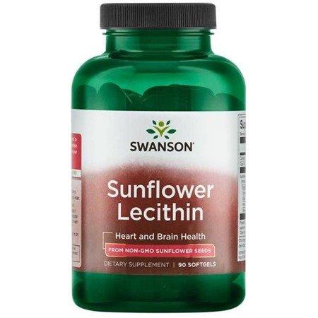 Swanson Lecytyna Słonecznikowa bez GMO 1200 mg 90 kapsułek