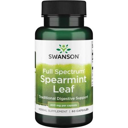 Swanson Mięta (Spearmint) 400 mg 60 kapsułek