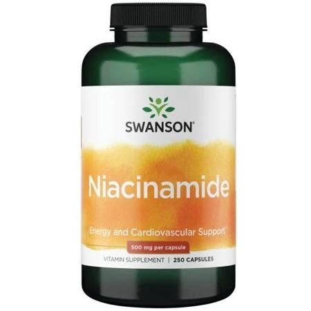Swanson Niacyna (Niacinamide) 500 mg 250 kapsułek