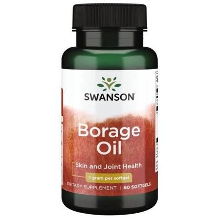 Swanson Olej z Ogórecznika (Borage Oil) 60 kapsułek