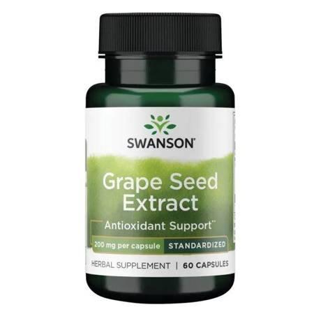 Swanson Pestki Winogron (Grape Seed) Extract 200 mg 60 kapsułek