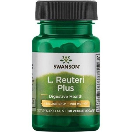 Swanson Probiotyk L. Reuteri Plus z L. Rhamnosus, L. Acidophilus i FOS 30 kapsułek