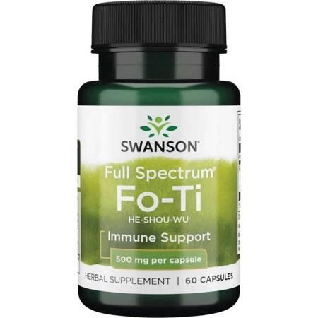 Swanson Rdest Wielokwiatowy Fo-Ti (He-Shou-Wu) 500 mg 60 kapsułek