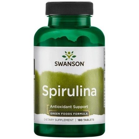 Swanson Spirulina 500 mg 180 tabletek