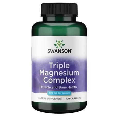Swanson Triple Magnesium Complex 400 mg 100 kapsułek