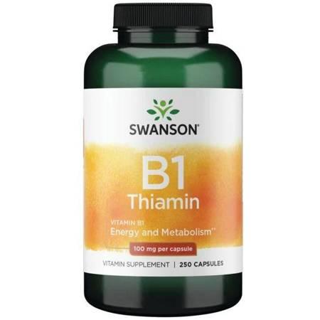 Swanson Witamina B1 (Tiamina) 100 mg 250 kapsułek