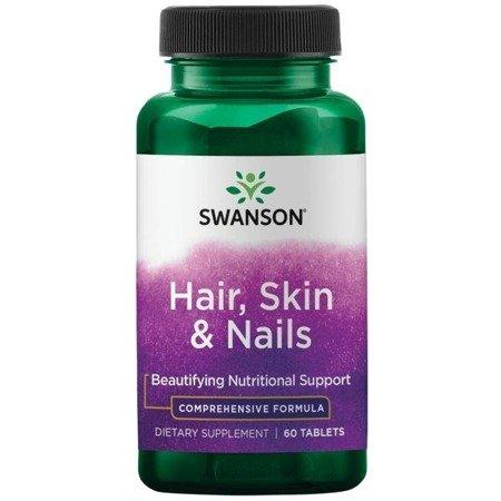 Swanson Włosy, Skóra i Paznokcie (Hair, Skin i Nails) 60 tabletek